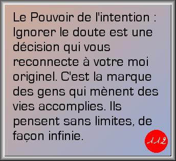 L'intention du jour : Mercredi 22 avril 2015